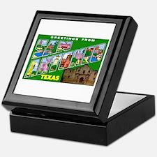 San Antonio Texas Greetings Keepsake Box