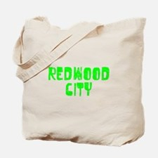 Redwood City Faded (Green) Tote Bag