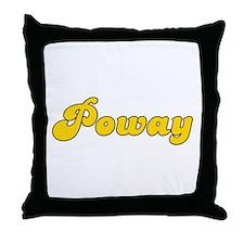 Retro Poway (Gold) Throw Pillow