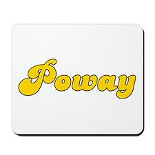 Retro Poway (Gold) Mousepad