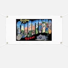 San Antonio Texas Greetings Banner