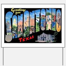 San Antonio Texas Greetings Yard Sign