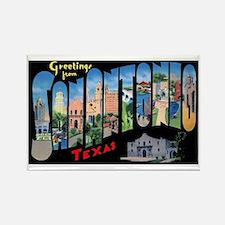San Antonio Texas Greetings Rectangle Magnet (10 p