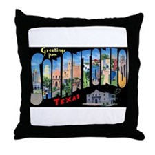 San Antonio Texas Greetings Throw Pillow