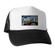 San Antonio Texas Greetings Trucker Hat