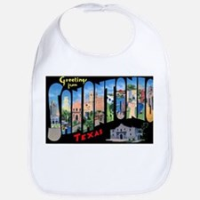 San Antonio Texas Greetings Bib