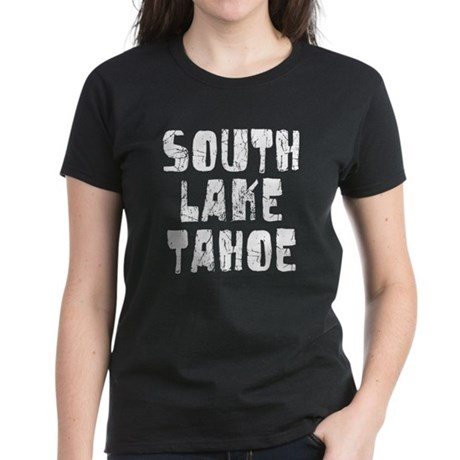 South Lake T.. Faded (Silver) Women's Dark T-Shirt