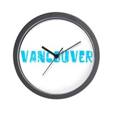 Vancouver Faded (Blue) Wall Clock