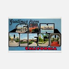 San Diego California Greetings Rectangle Magnet