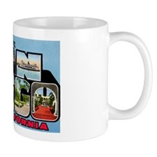 San Diego California Greetings Mug