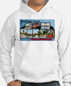 San Diego California Greetings (Front) Hoodie