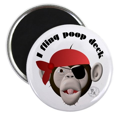 """I Fling Poop Deck 2.25"""" Magnet (10 pack)"""