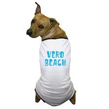 Vero Beach Faded (Blue) Dog T-Shirt