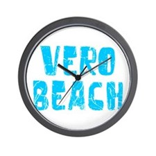 Vero Beach Faded (Blue) Wall Clock