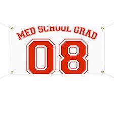 Med School Grad 08 (Red) Banner