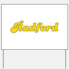 Retro Radford (Gold) Yard Sign