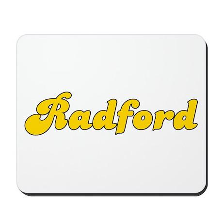 Retro Radford (Gold) Mousepad