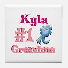 Kyla - #1 Grandma Tile Coaster