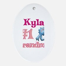 Kyla - #1 Grandma Oval Ornament