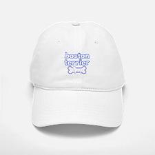 Powderpuff Boston Terrier Baseball Baseball Cap