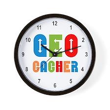 Geocacher Arrows Multi Wall Clock
