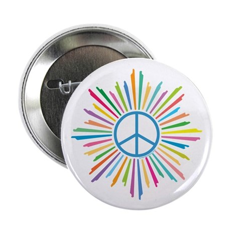 "Peace Symbol Star 2.25"" Button (100 pack)"