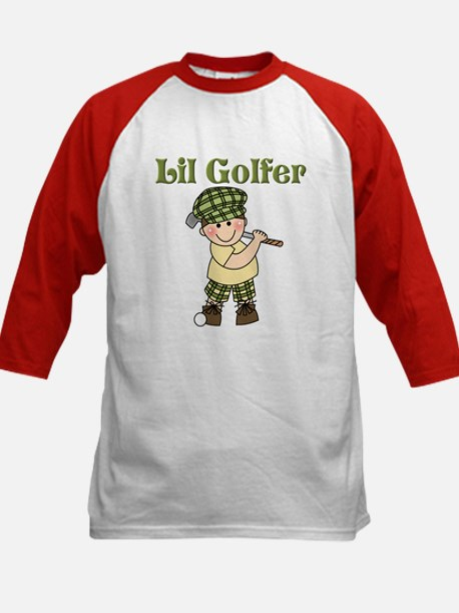Little Golfer Kids Baseball Jersey