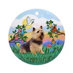 Bright Life/Norwich Terrier Ornament (Round)
