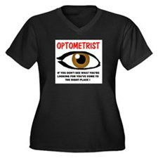 OPTOMETRIST Women's Plus Size V-Neck Dark T-Shirt