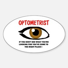 OPTOMETRIST Oval Decal