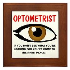 OPTOMETRIST Framed Tile