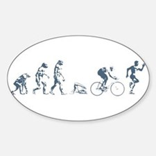 TRIATHLETE EVOLUTION Oval Decal