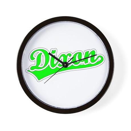 Retro Dixon (Green) Wall Clock