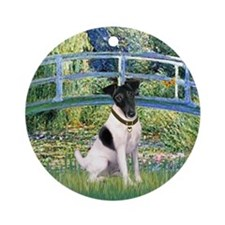 Bridge/Toy Fox Terrier Ornament (Round)