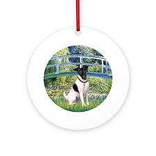 Bridge/Toy Fox Terrier Ornament (Round)