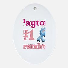 Payton - #1 Grandma Oval Ornament