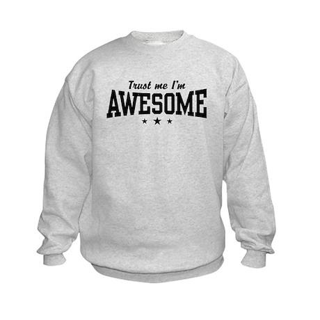 Trust Me I'm Awesome Kids Sweatshirt