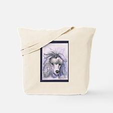 Silver Poodle Tote Bag