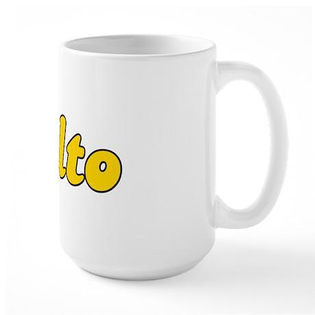 Retro Rialto (Gold) Large Mug