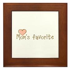 Mom's Favorite Framed Tile