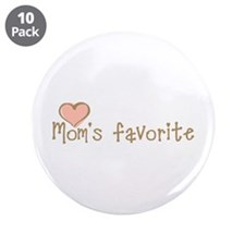 """Mom's Favorite 3.5"""" Button (10 pack)"""