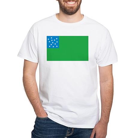 Green Mountain Boys Flag White T-Shirt