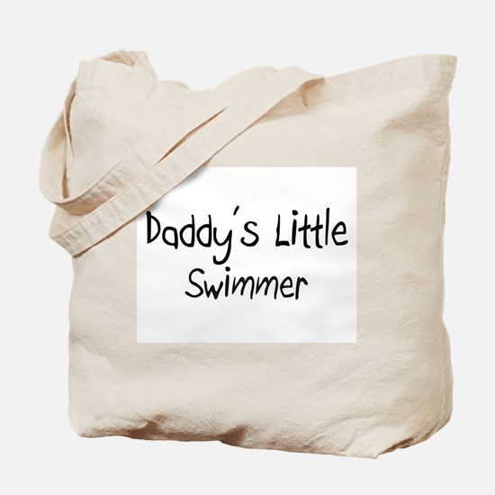 Daddy's Little Swimmer Tote Bag