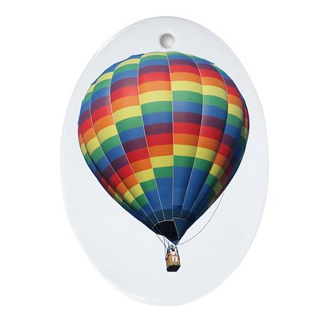 Helaine's Hot Air Balloon 8 Oval Ornament