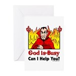 God is Busy Greeting Cards (Pk of 20)