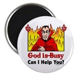 "God is Busy 2.25"" Magnet (100 pack)"