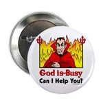 "God is Busy 2.25"" Button (100 pack)"