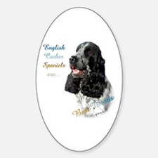 English Cocker Best Friend1 Oval Decal