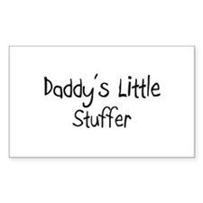 Daddy's Little Stuffer Rectangle Decal