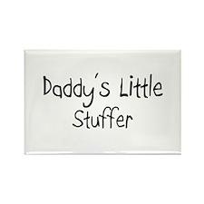 Daddy's Little Stuffer Rectangle Magnet